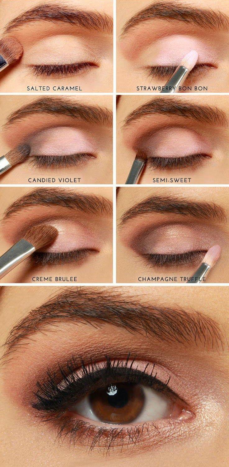 Повседневный макияж для маленьких глаз пошаговое фото
