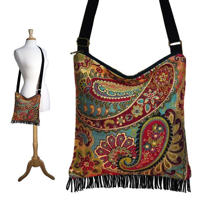 Bags   Handbag Trends   Bohemian Purse Gypsy Fringe Bag Slouch Hobo ... 0198c95a81