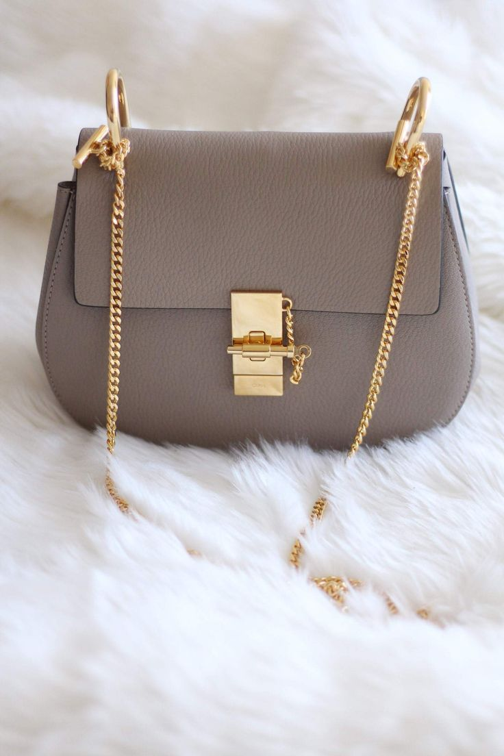 Bags   Handbag Trends   awesome New In  The Chloe Drew Bag in Grey ... d086b0a9630e9