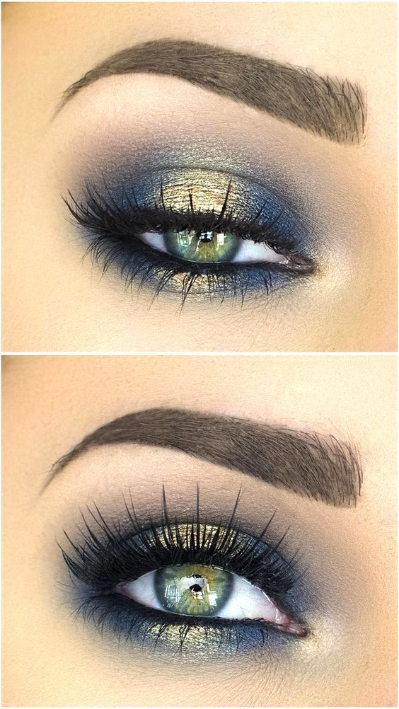 Best Ideas For Makeup Tutorials : Blues of the Sea eye makeup look ...