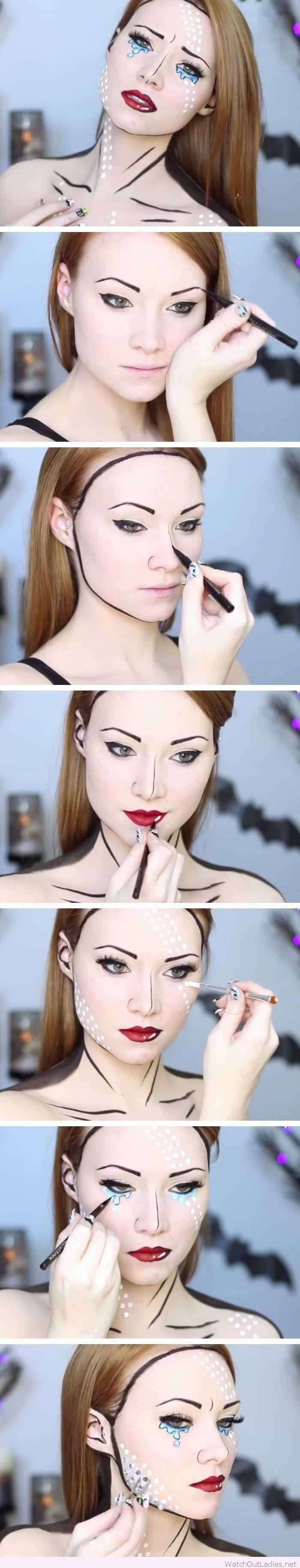 Best ideas for makeup tutorials comic book makeup tutorial for description comic book makeup tutorial for halloween baditri Choice Image