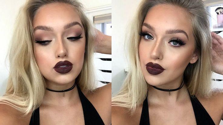 Best Ideas For Makeup Tutorials  Instagram U0026quot;Baddieu0026quot; Makeup Tutorial- Matte Eyes Dark Lips ...