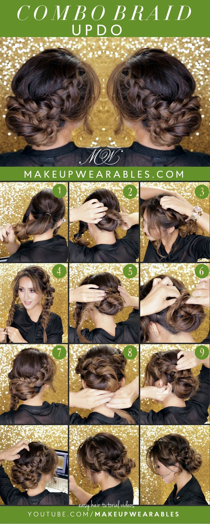 Hair Tutorials Curly Romantic Bun Holiday Updo Hairstyles