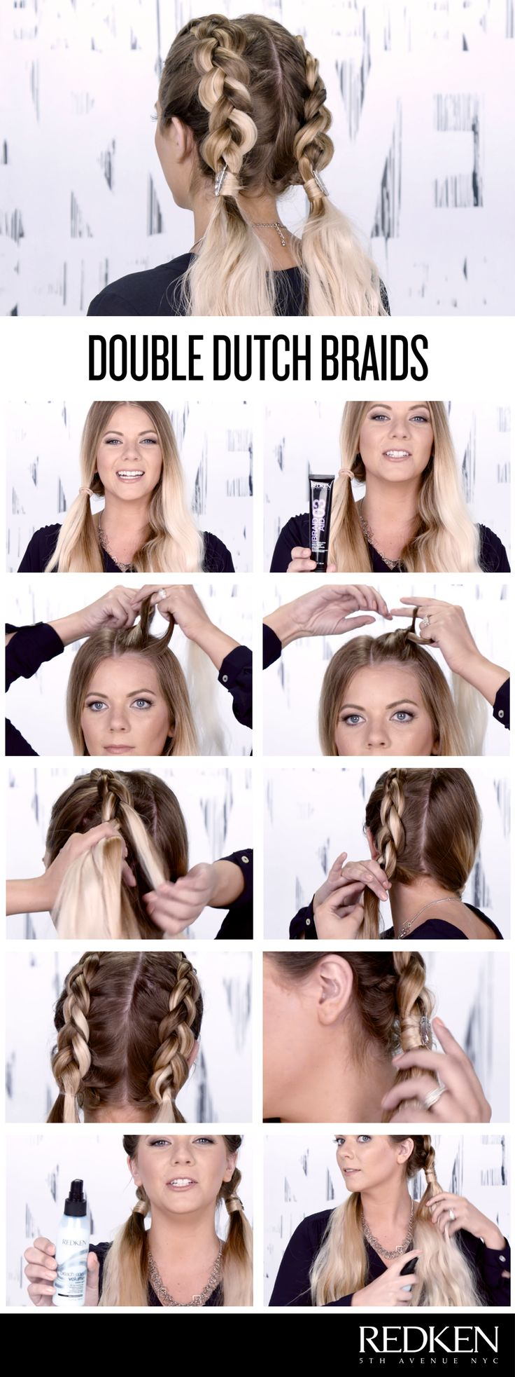 Hair Tutorials Double Dutch Braids Look Great On Everyone Try