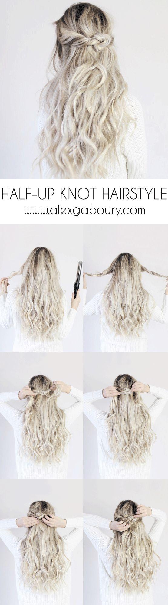 Hair Tutorials Half Up Knot Hairstyle Halfup Knot Hairstyle Alex