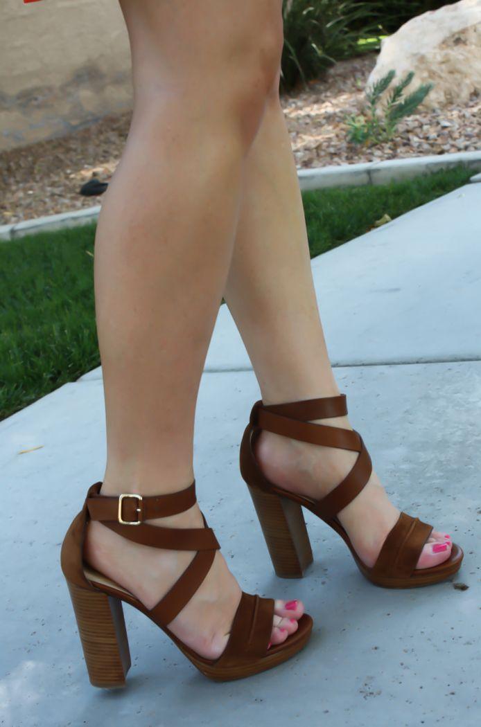 6dcebb860ac High Heels   Brown Chunky Heeled Sandals   Need... - Flashmode ...