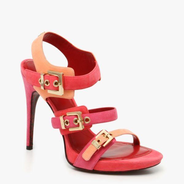 9160138db0e7 High Heels   Cesare Paciotti Suede Sandal Heel In Pink   Multicolor ...