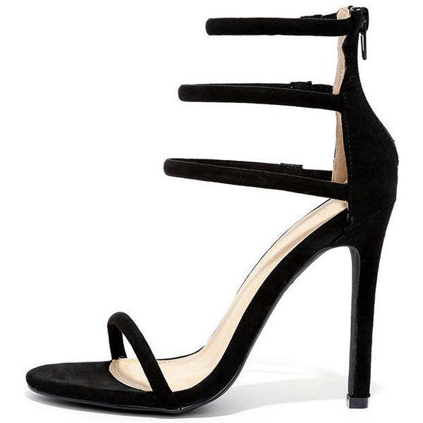 cb62759b468 Trendy High Heels   Floor is Yours Black Suede High Heel Sandals ...