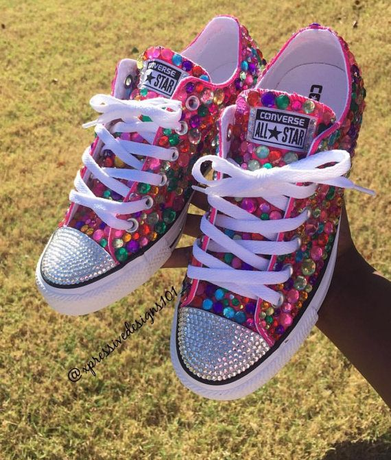 ce4ef24f9e77 Trendy Ideas For Women s Sneakers   Custom low top bling converse ...