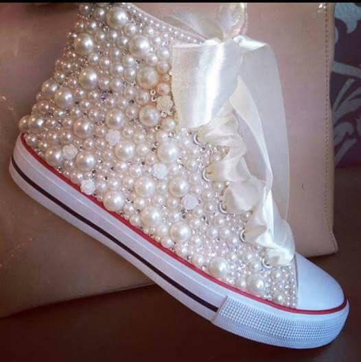 Trendy Ideas For Women s Sneakers   Fully Loaded- Pearls   Bling ... ebff715145