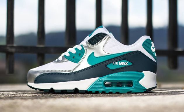 new products 96a22 aa76d Trendy Ideas For Women s Sneakers   Nike Air Max 90 WMNS White   Turbo  Green Nightshade Metallic Sail…