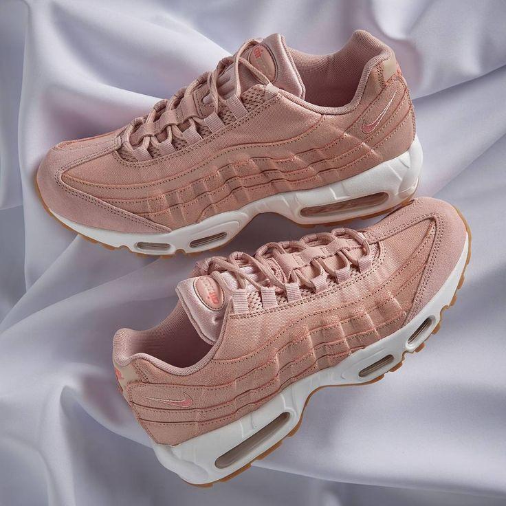 Trendy Ideas For Women s Sneakers   NIKE w Air Max 95 Premium Pink ... 8c2e568c50