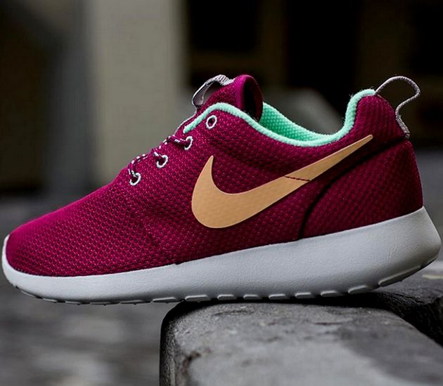 64d56d341eb4 spain trendy ideas for womens sneakers nike wmns roshe run raspberry red  purple dynasty green glow