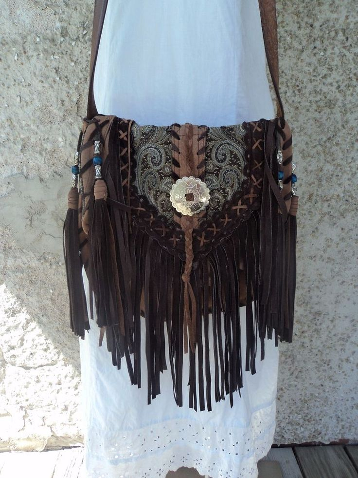 Bags Amp Handbag Trends Handmade Fringe Brown Leather