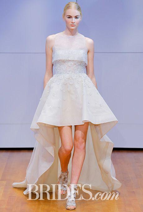 Beautiful Wedding Dresses Inspiration 2017/2018 : Organza high-low ...