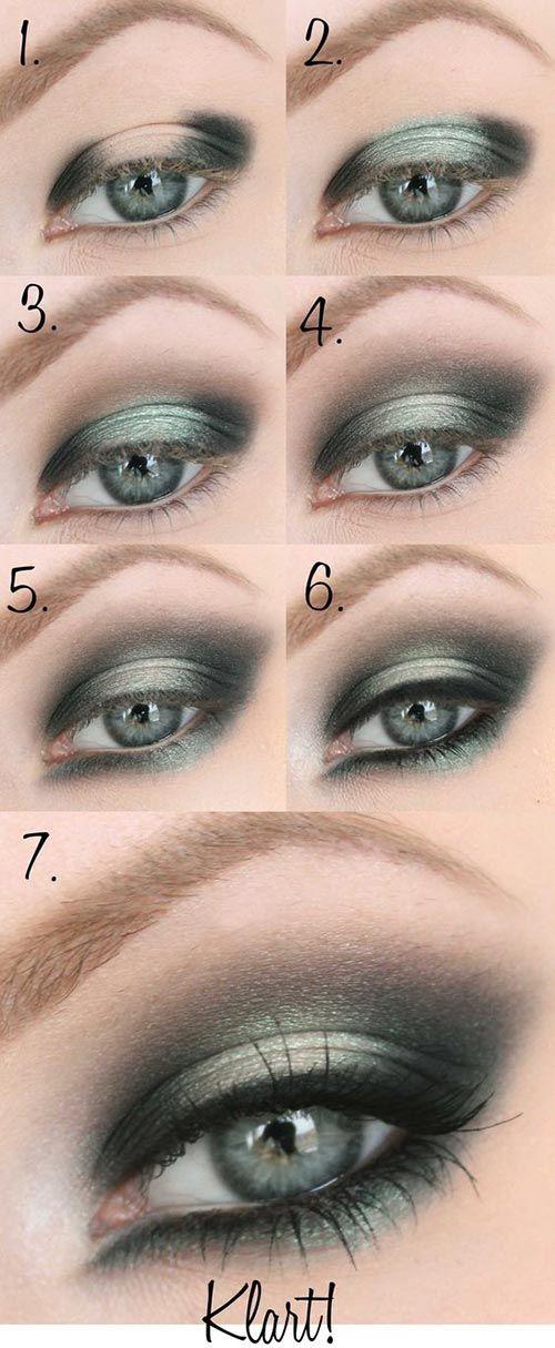 Best Ideas For Makeup Tutorials Classy Smokey Green Eye Makeup