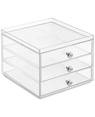 Description. Interdesign Slim 3-Drawer Makeup Organizer Clear u2013 Storage ...  sc 1 st  Flashmode Worldwide & Best Ideas For Makeup Tutorials : Interdesign Slim 3-Drawer Makeup ...