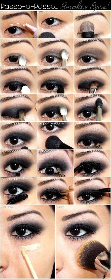 Best ideas for makeup tutorials: asian smokey eyes easy step by.