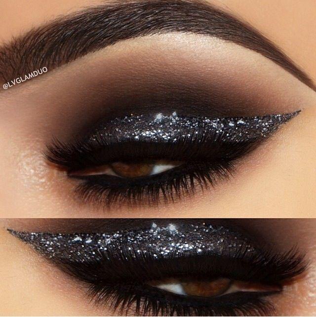 Best Ideas For Makeup Tutorials Smoky Black Glitter Eye Makeup