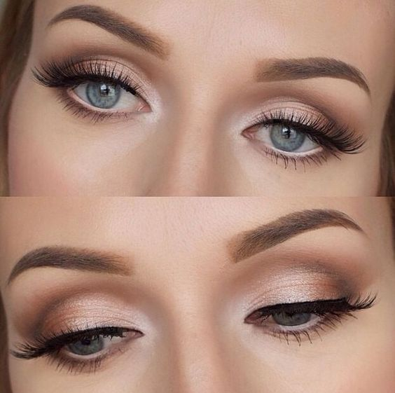 Wedding makeup for fair skin and blue eyes