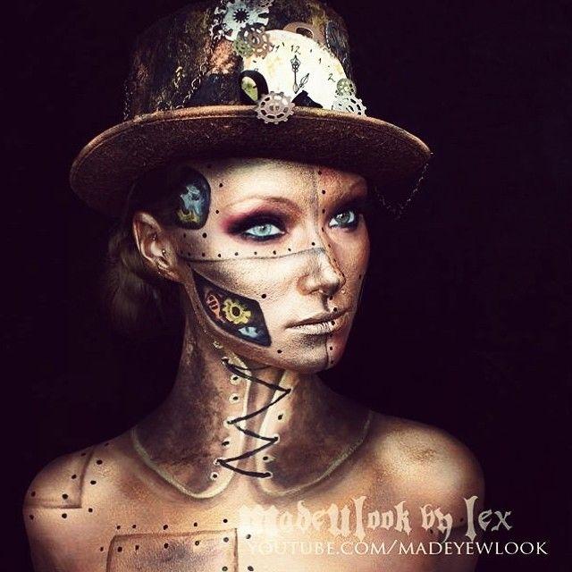 10966a97884 Best Ideas For Makeup Tutorials   Steampunk halloween makeup ...