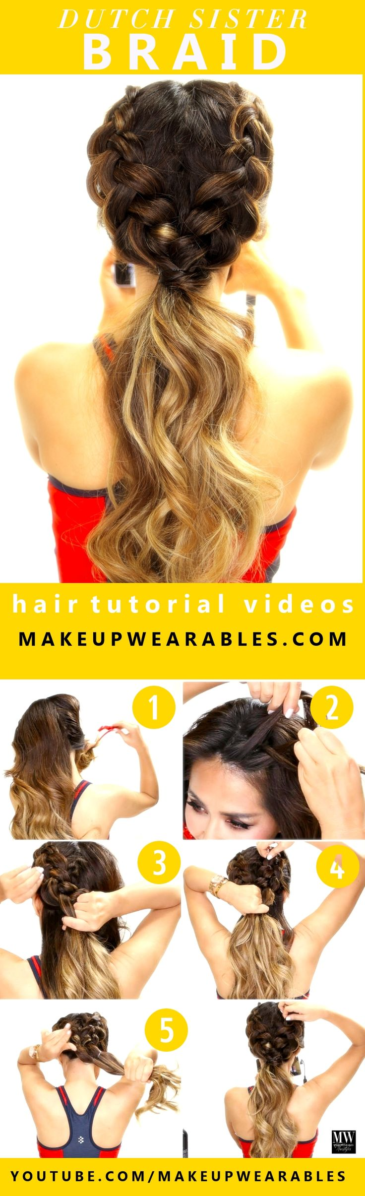 Summer Hairstyles How To Easy Dutch Braid Workout Hairstyles For