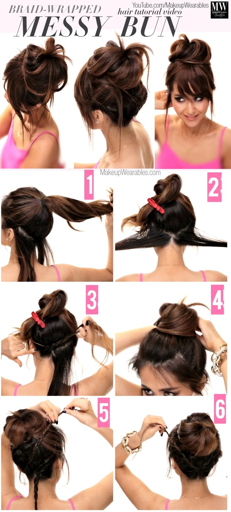 Summer Hairstyles How To Lazy Girl S Messy Bun Hairstyles