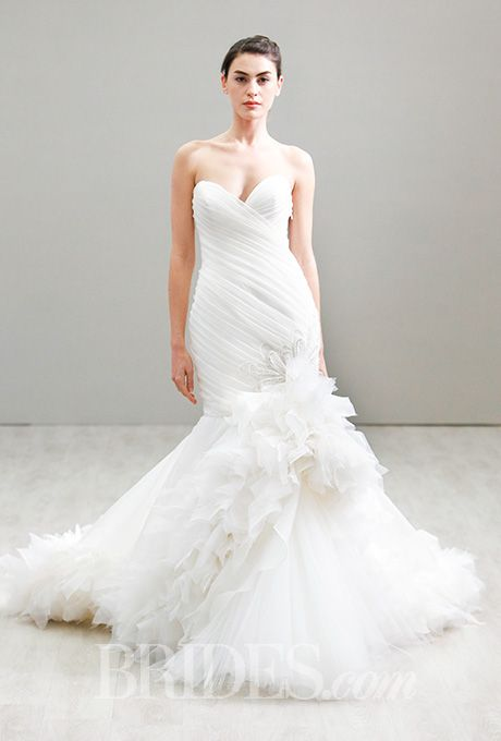 Beautiful Wedding Dresses Inspiration 2017/2018 : A strapless, fit ...
