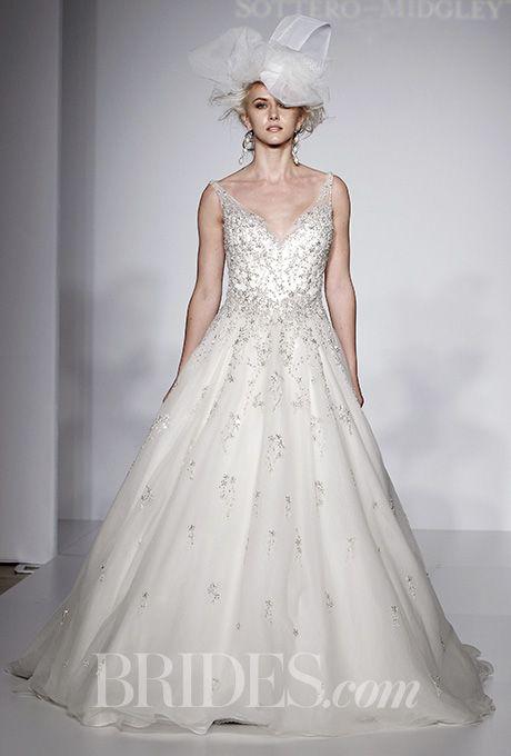Beautiful Wedding Dresses Inspiration 2017/2018 : A V-neck, A-line ...