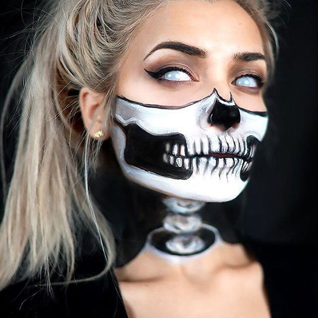 Best 25+ Half skull makeup ideas on Pinterest | Half skeleton ...