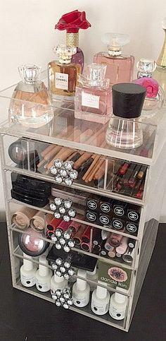 11 best acrylics images on pinterest creative ideas diy makeup vanity and dreams - Bathroom Makeup Organizers