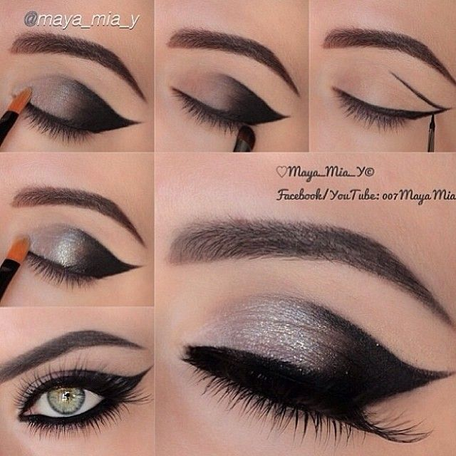 Best Ideas For Makeup Tutorials Attractive Silvery Grey Smoky Eye