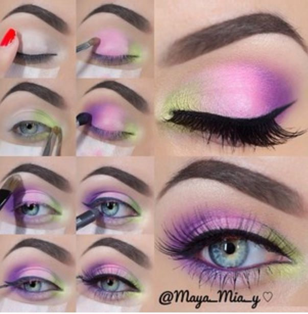 Best Ideas For Makeup Tutorials Bright Eye Makeup Step By Step