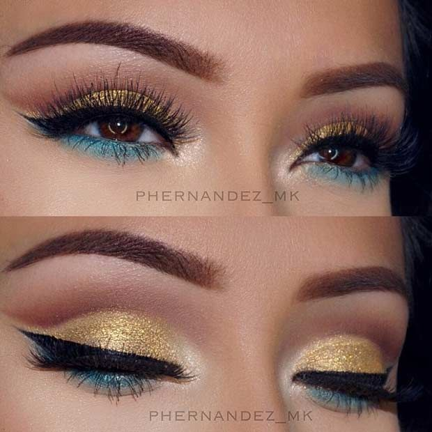 Best Ideas For Makeup Tutorials Bright Gold And Green Eye Makeup