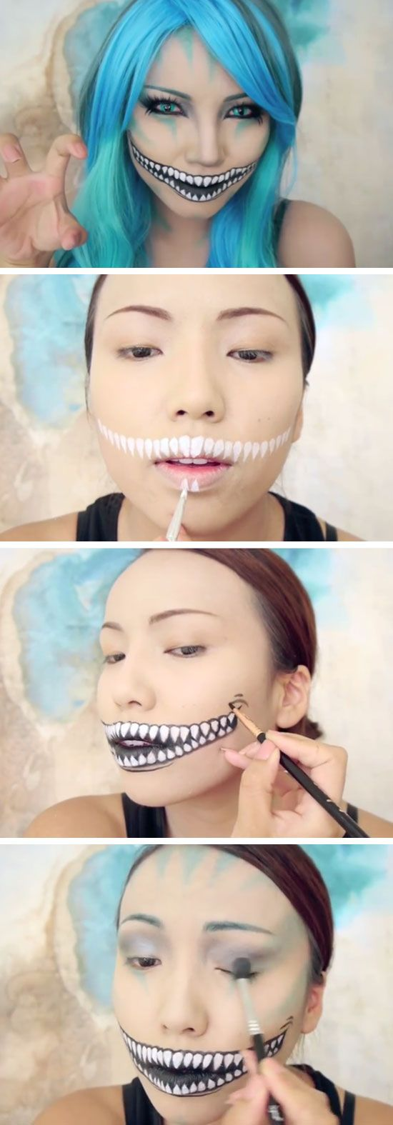 Best ideas for makeup tutorials freaky cheshire cat makeup best ideas for makeup tutorials baditri Image collections