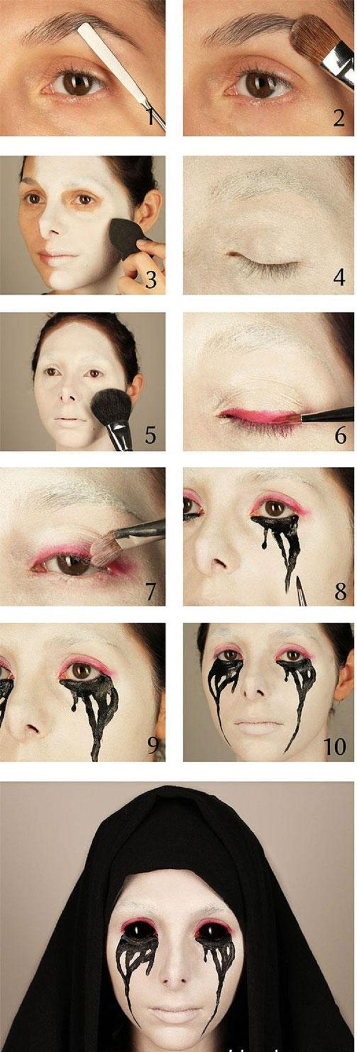 best ideas for makeup tutorials : halloween makeup tutorial: scary