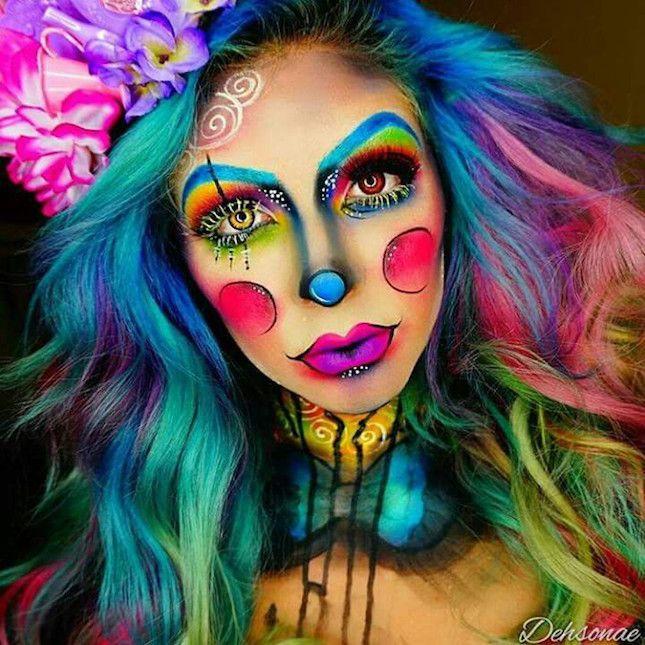 Best Ideas For Makeup Tutorials : Halloween rainbow clown ...