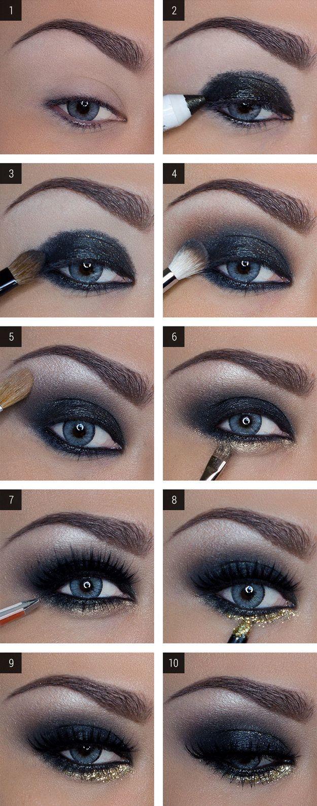 How To Do Dramatic Dark Eye Makeup Saubhaya Makeup