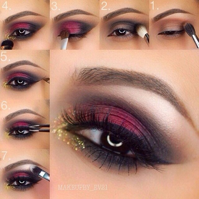 Description Maroon Smokey Eye Makeup Tutorial
