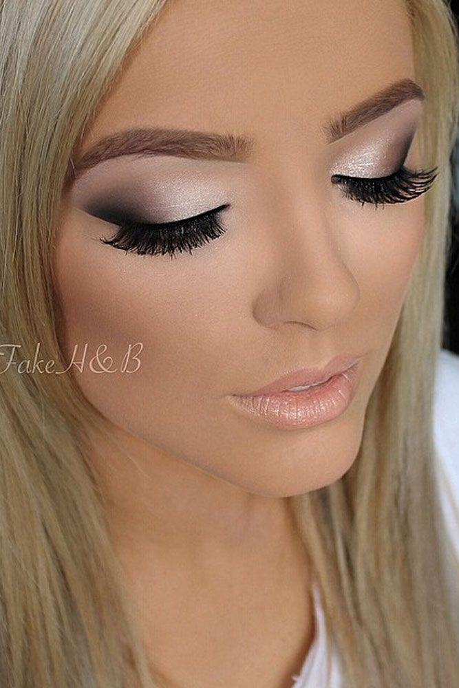 Prom makeup for white dress