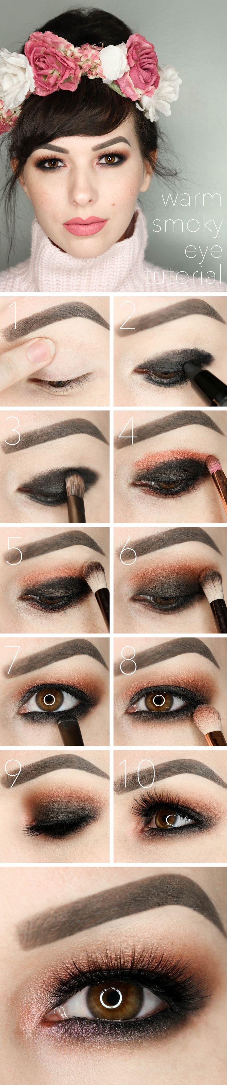 Best ideas for makeup tutorials warm smoky eye tutorial description warm smoky eye tutorial valentines day makeup baditri Choice Image