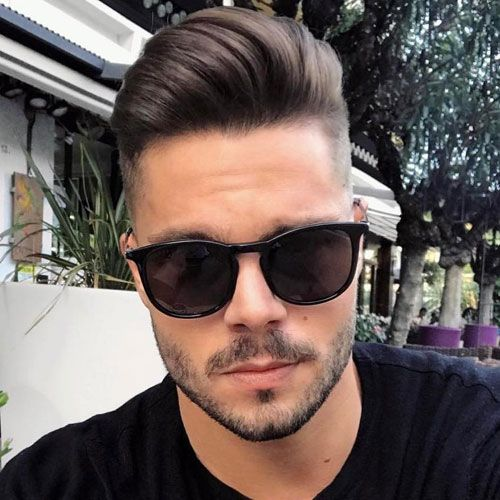 Men S Haircuts High Fade With Comb Over And Beard Flashmode