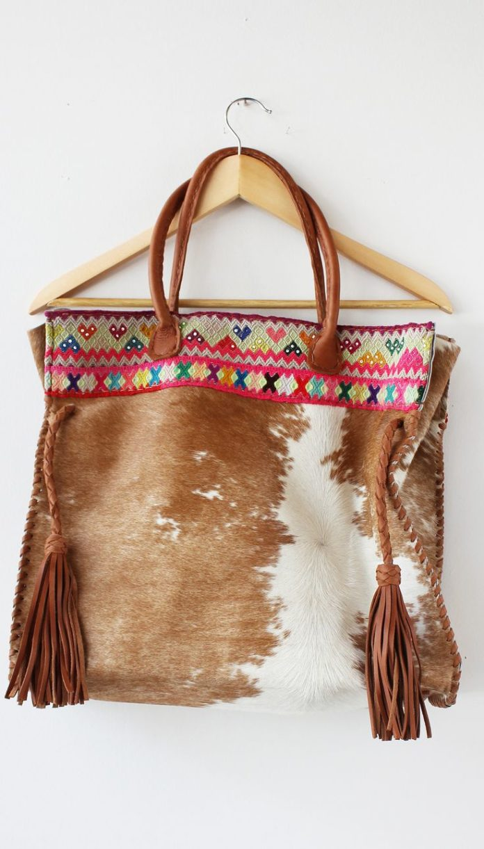 Bags Amp Handbag Trends Awesome Cowhide Bag With A Pop Of