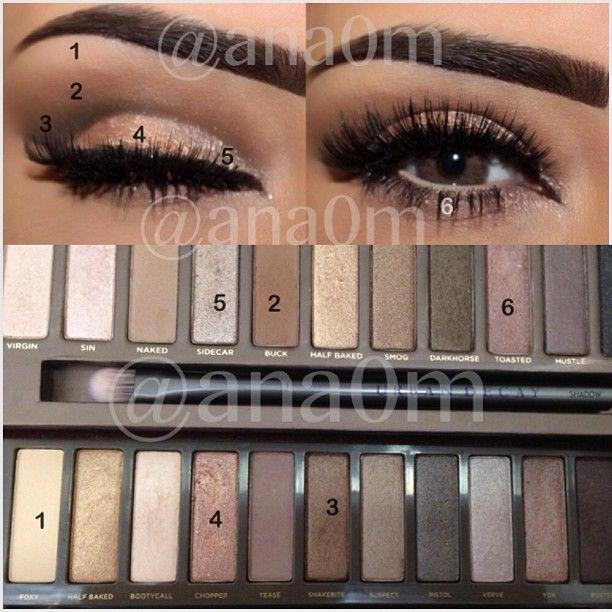 Urban decay naked 2 makeup tutorial | hair & beauty | pinterest.