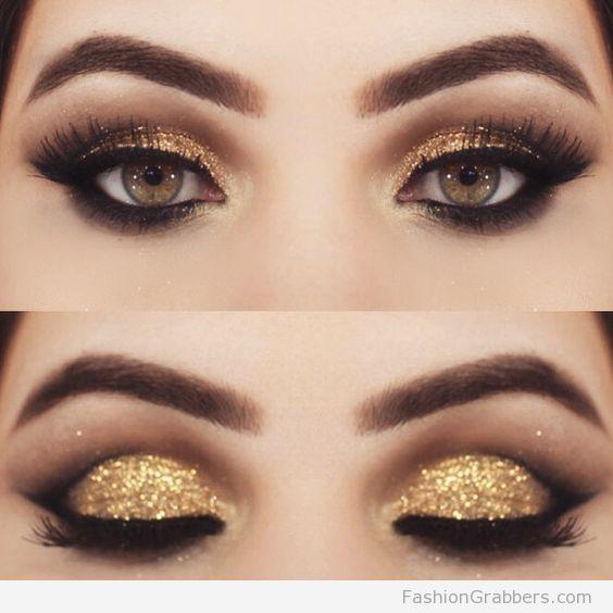 Best Ideas For Makeup Tutorials : +30 Gorgeous Golden Holiday