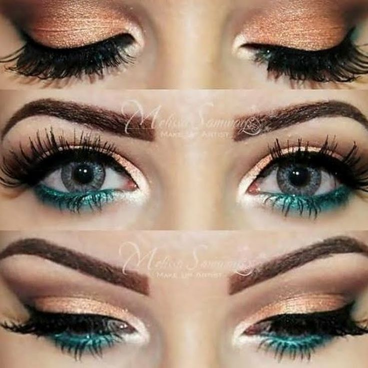 Best Ideas For Makeup Tutorials Gold Peach And Turquoise Eye