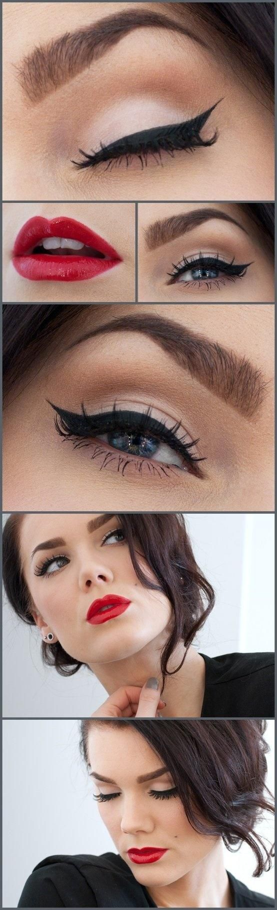 Best ideas for makeup tutorials hair eyes and lips old description baditri Image collections