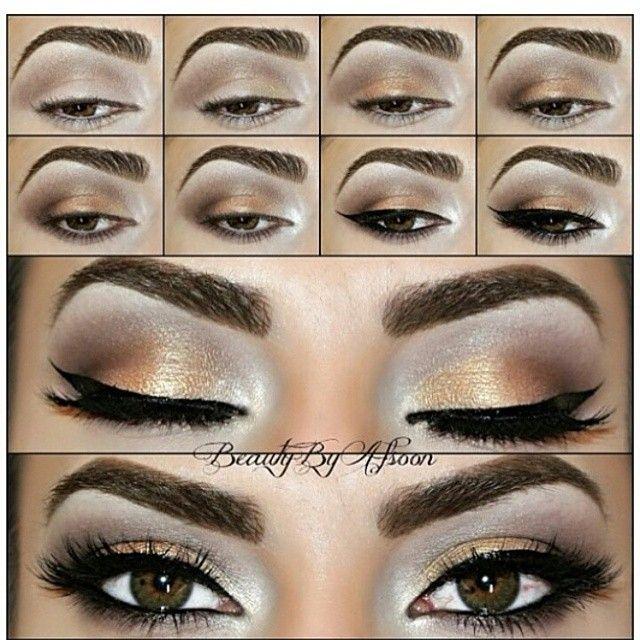 Best Ideas For Makeup Tutorials Light Bronze And Gloden Eye Makeup