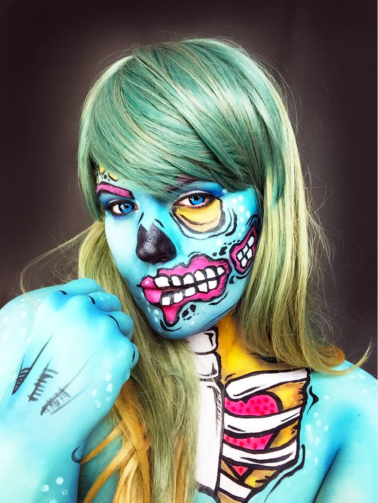 best ideas for makeup tutorials pop art zombie makeup tutorial flashmode worldwide usa. Black Bedroom Furniture Sets. Home Design Ideas
