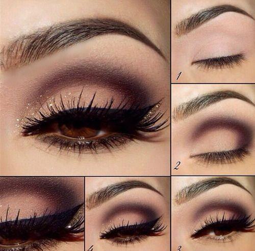 Best ideas for makeup tutorials: breathtaking pink smoky eye.